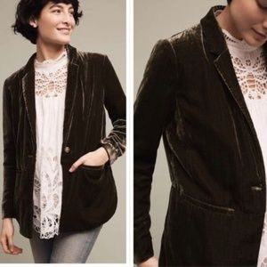 Anthropologie Cartonnier size 4 velvet blazer